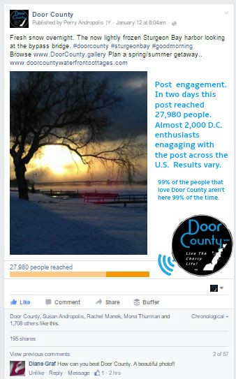 In 2  days one of our posts reached 27,000 with almost 2,000 likes and other engagement.